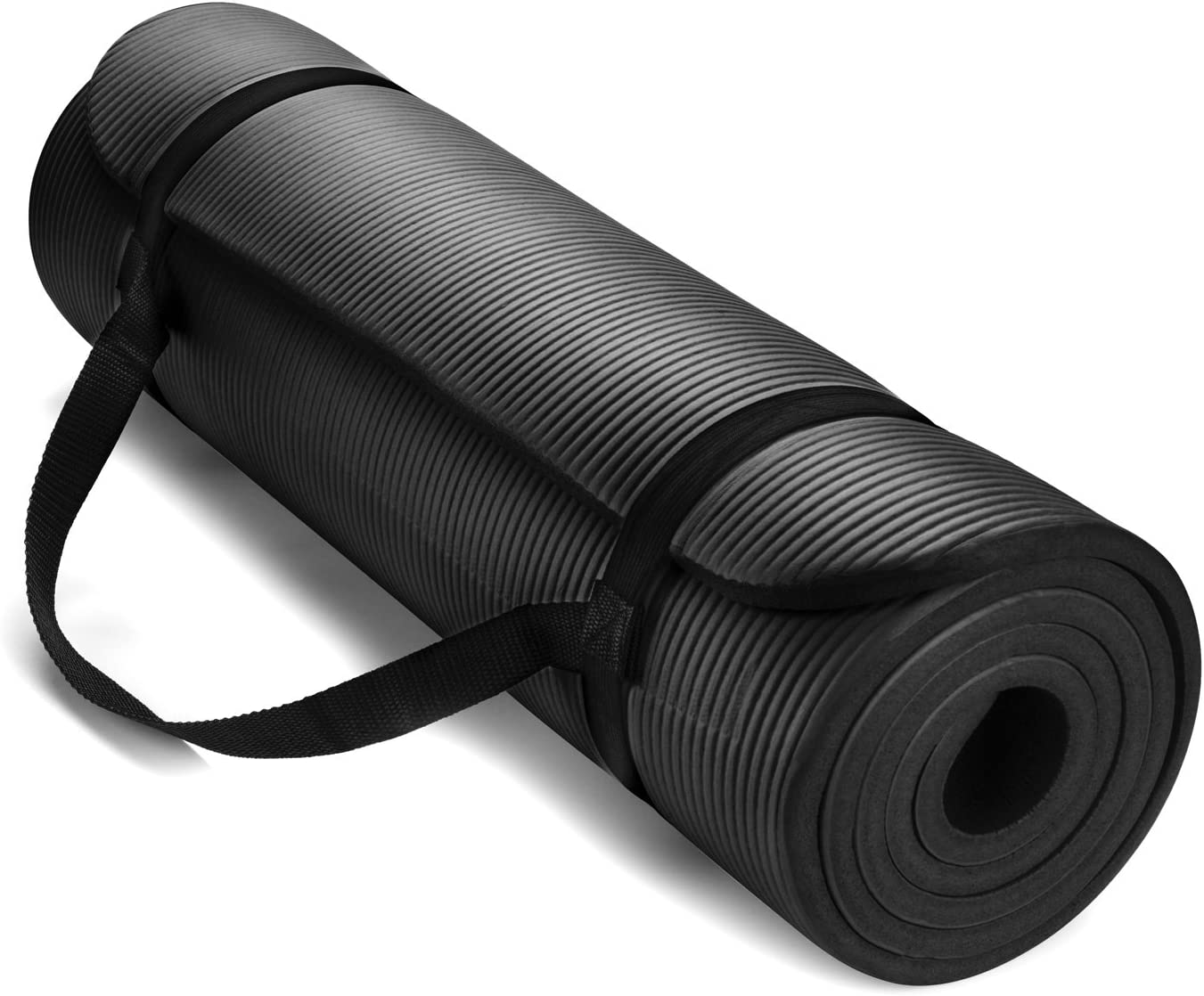 HemingWeigh 1 2-Inch Extra Thick High Density Exercise Yoga Mat with Carrying Strap for Exercise, Yoga and Pilates