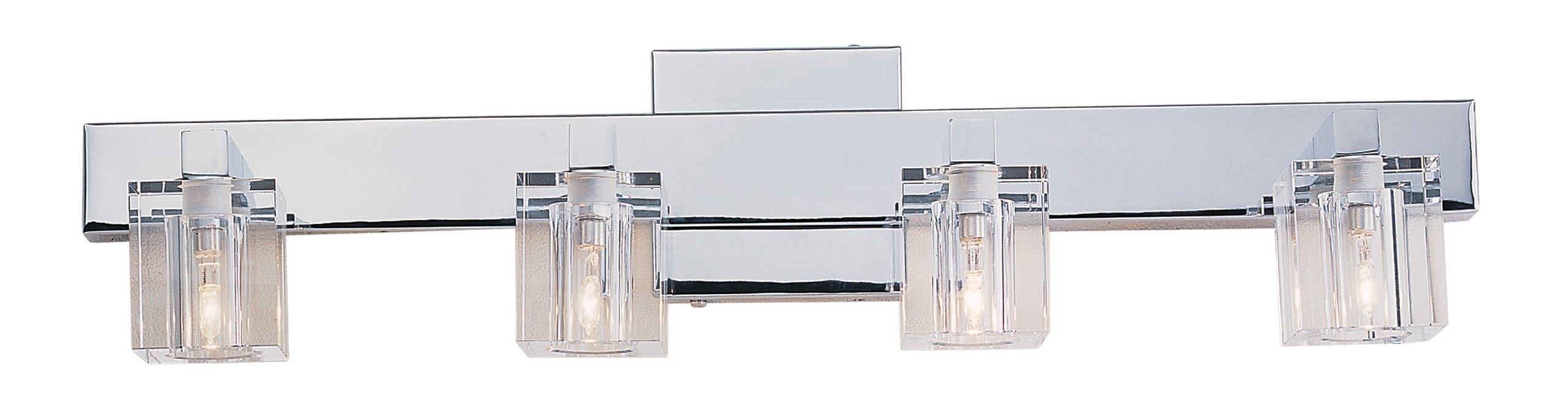 Trans Globe Lighting 2844 PC Indoor  Seaglass 24'' Vanity Bar, Polished Chrome