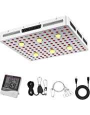 Phlizon COB Series 1000W LED Plant Grow Light,with Thermometer Humidity Monitor,with Adjustable Rope,Full Spectrum Double Switch Plant Light for Indoor Plants Veg and Flower- 1000W