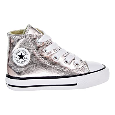 Converse CT All Star High Top Infant Shoes Rose Quartz White Black 757628f ( c005d3679