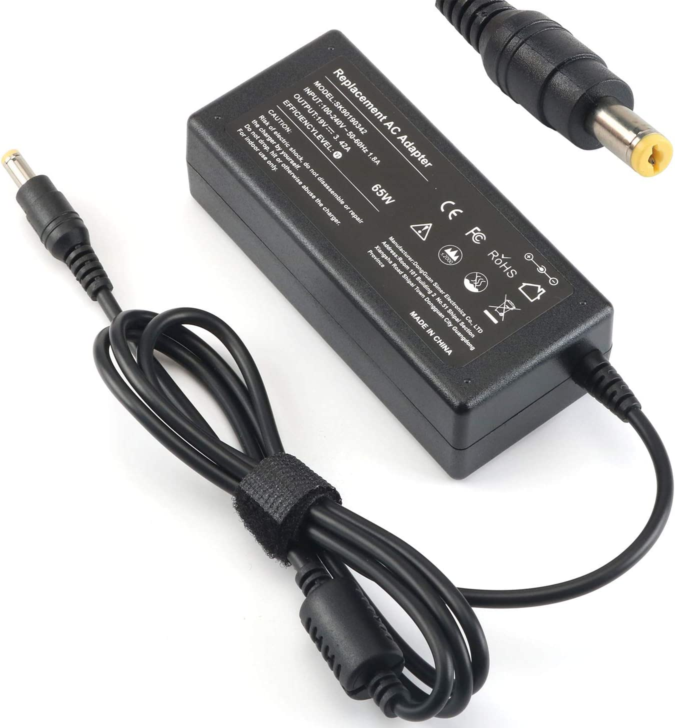 19V AC Adapter Laptop Charger for Acer LCD Monitor S202HL SA230 S230HL S231HL S232HL H236HL G246HL H276HL G276HL G236HL S240HL S220HQL S271HL H226HQL G226HQL S202HL S241HL HN274H R240HY UM.VG6AA.B01