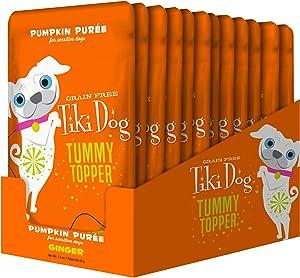Tiki Pets Tummy Topper Wet Food Treats - Grain Free Pumpkin Purée for Sensitive Stomachs