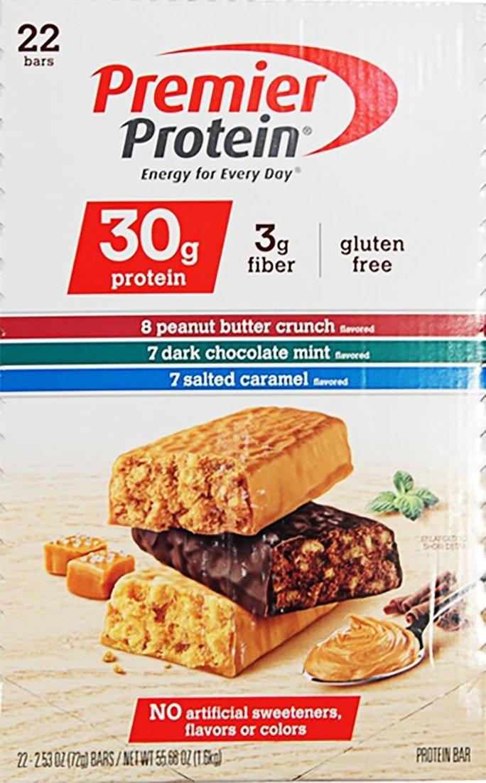 Premier Protein Peanut Butter, Dark Chocolate & Salted Caramel Protein Bars by Premier Protein (Image #1)