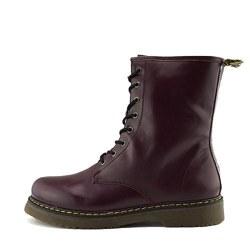 Kick Footwear - Botas Militares de Cuero Mujer  Amazon.es  Zapatos y  complementos f0d543587b4ab