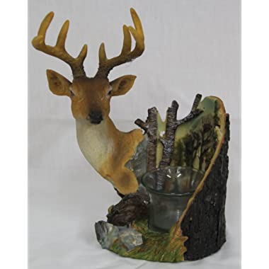 Deer with Glass Candle Holder