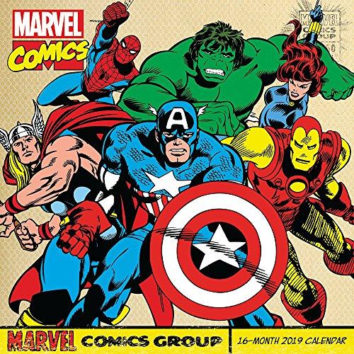 Retro Marvel Comics Wall Calendar (2019) -