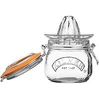 Kilner Glassware Juego de 2 frascos exprimidores, Marca, almacena y Sirve Zumo de cítricos Frescos, Tapa hermética con Clip, 17 onzas líquidas