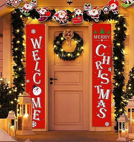 Amazon.com: Idefair - Carteles de Navidad para puerta ...