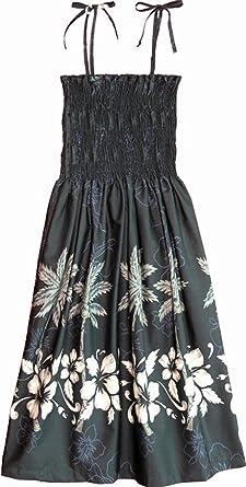 922f67d2576 RJC Womens Hibiscus Bottom Band Elastic Tube Top Sundress in Black - XL