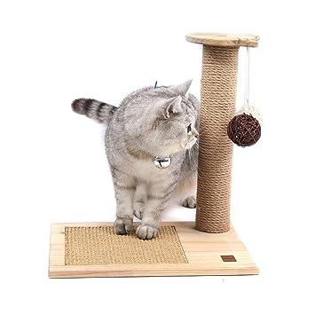 SWEET DEVIL Árbol Rascador para Gatos con Poste Rascadore y 2 Bolas Colgantes Juguete de Gato Sisal Natural,Medio,42 cm de Altura: Amazon.es: Productos para ...
