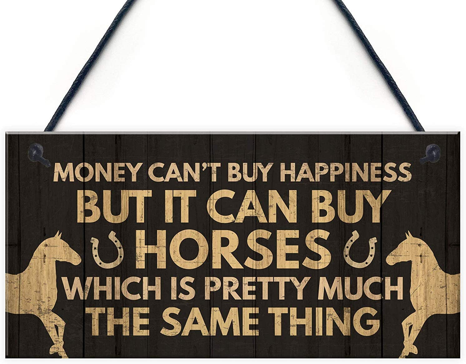 """Meijiafei Novelty Horse Accessories Gifts for Girls Women Stable Door Animal Funny Horse Sign Gift for Horse Lovers 10"""" X 5"""""""