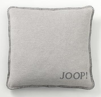 Outlet-Verkauf elegant im Stil perfekte Qualität Joop! Uni Kissen Doubleface Rauch-Graphit, 50x50 cm Kissenhülle