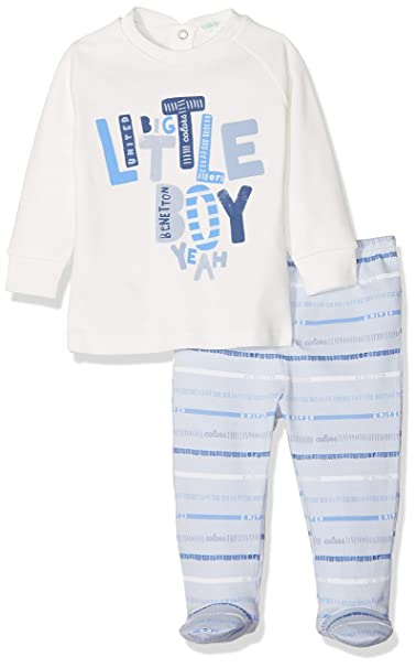 United Colors of Benetton Pyjama (Sweater+Trousers), Pijama para Bebés (Pack de 2): Amazon.es: Ropa y accesorios