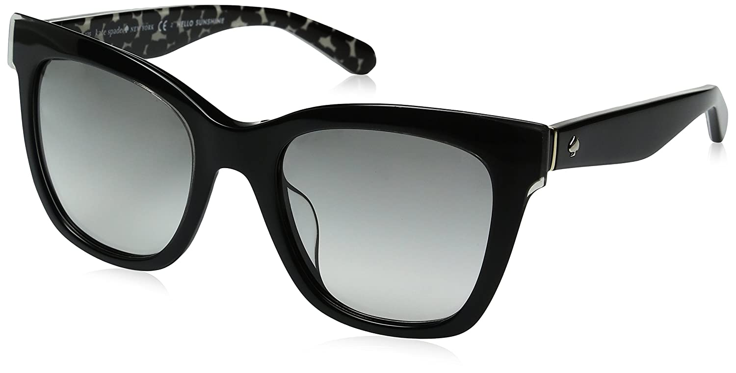 78c274bbf9 Amazon.com  Kate Spade Women s Emmylou Square Sunglasses BLACK CREAM  TRANSPARENT GRAY GRADIENT 51 mm  Clothing