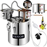 VEVOR Moonshine Still 9.6Gal/ 38L Stainless Steel Water Alcohol Distiller Copper Tub Home Brewing Kit Build-in Thermometer for DIY Whisky Wine Brandy, Silver