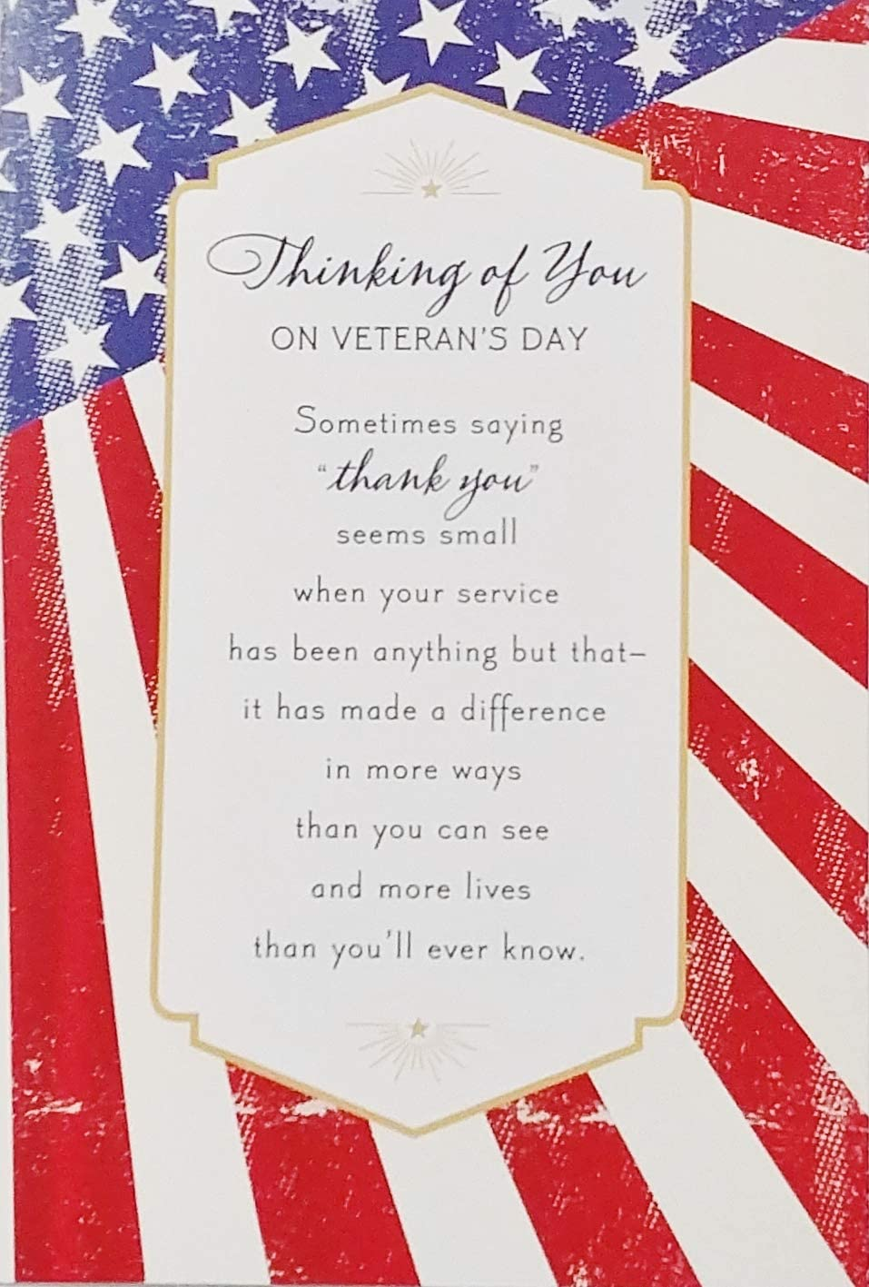 Amazon Com Thinking Of You On Veteran S Day Thank You Religious Greeting Card With Gratitude Appreciation And Prayers For God To Bless You Because Of The Blessing You Ve Been Office