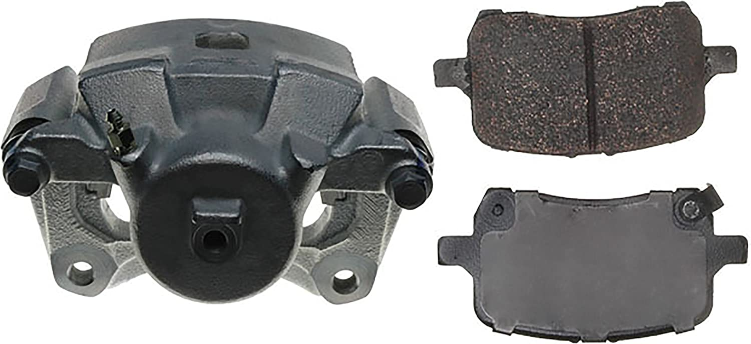 Loaded Coated Remanufactured ACDelco 18R12689C Professional Front Driver Side Disc Brake Caliper Assembly with Pads