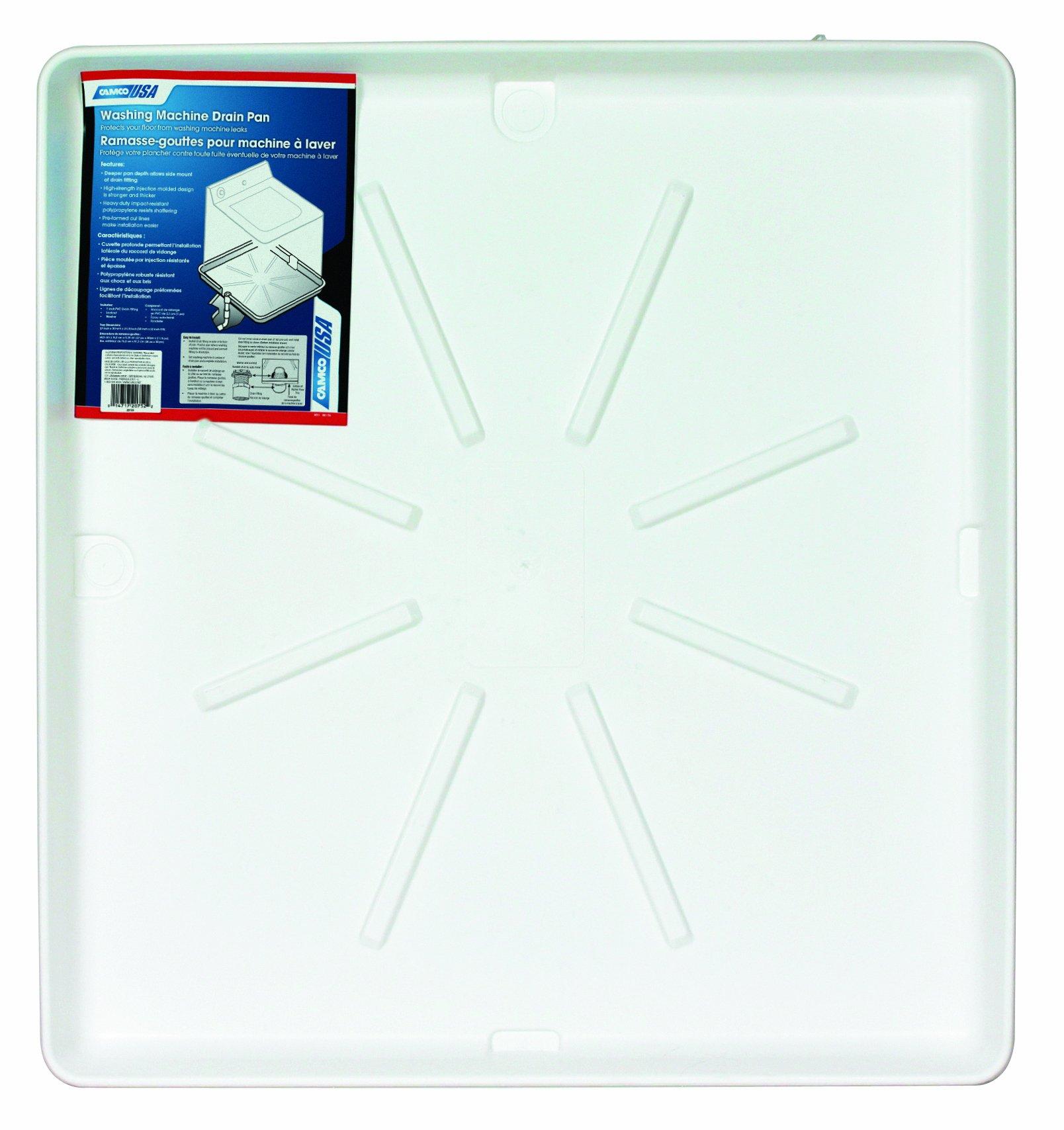 Camco 20756 32''OD x 30'' Washing Machine Drain Pan w/CPVC Fitting (White)