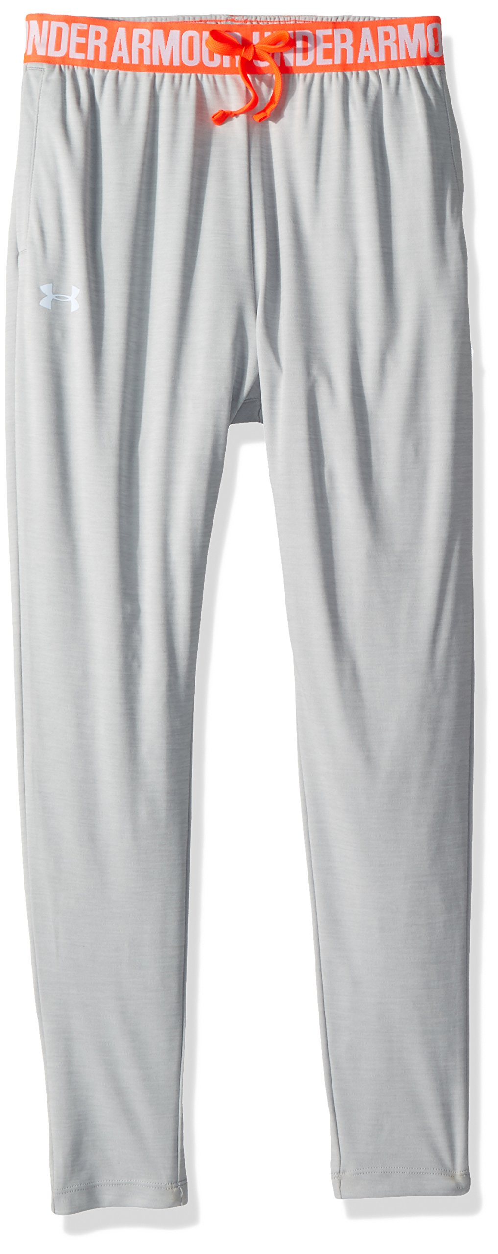 Under Armour Girls Tech Novelty Jogger, Overcast Gray (942)/Oxford Blue, Youth Medium by Under Armour