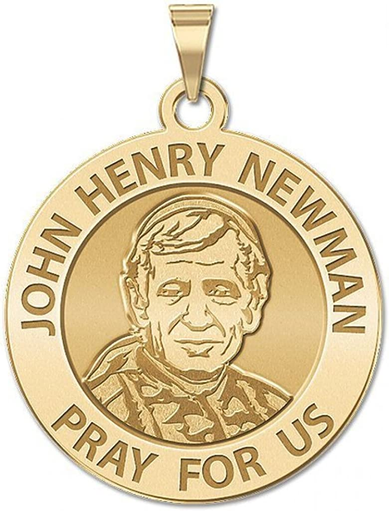 PicturesOnGold.com Blessed John Henry Newman Religious Medal Traditional Religious Medal 2//3 Inch Size of Dime Solid 14K Yellow Gold
