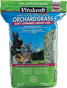Vitakraft Orchard Grass, Premium Soft Stemmed Hay, 100% American Grown, 28 Ounce Resealable Bag