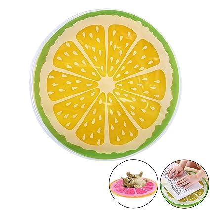 Pawaca - Alfombrilla de refrigeración multiusos para mascotas, con forma de fruta, PVC,