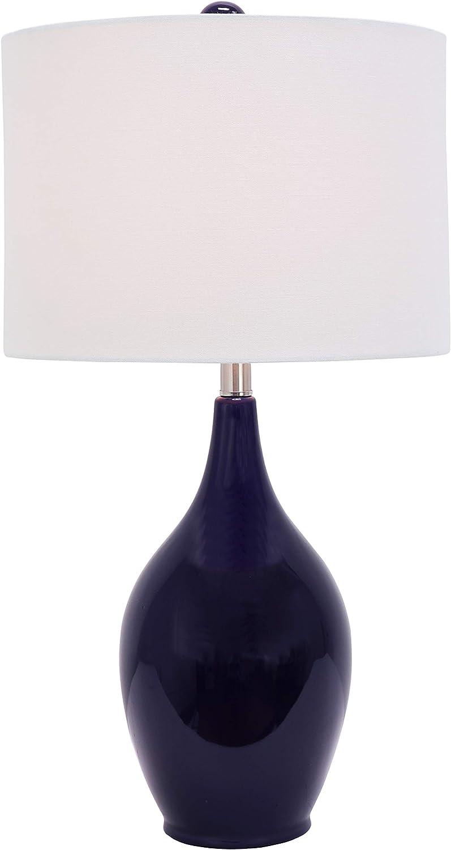 Decor Therapy TL17485 Table Lamp, Measures 14x14x27, Indigo Blue
