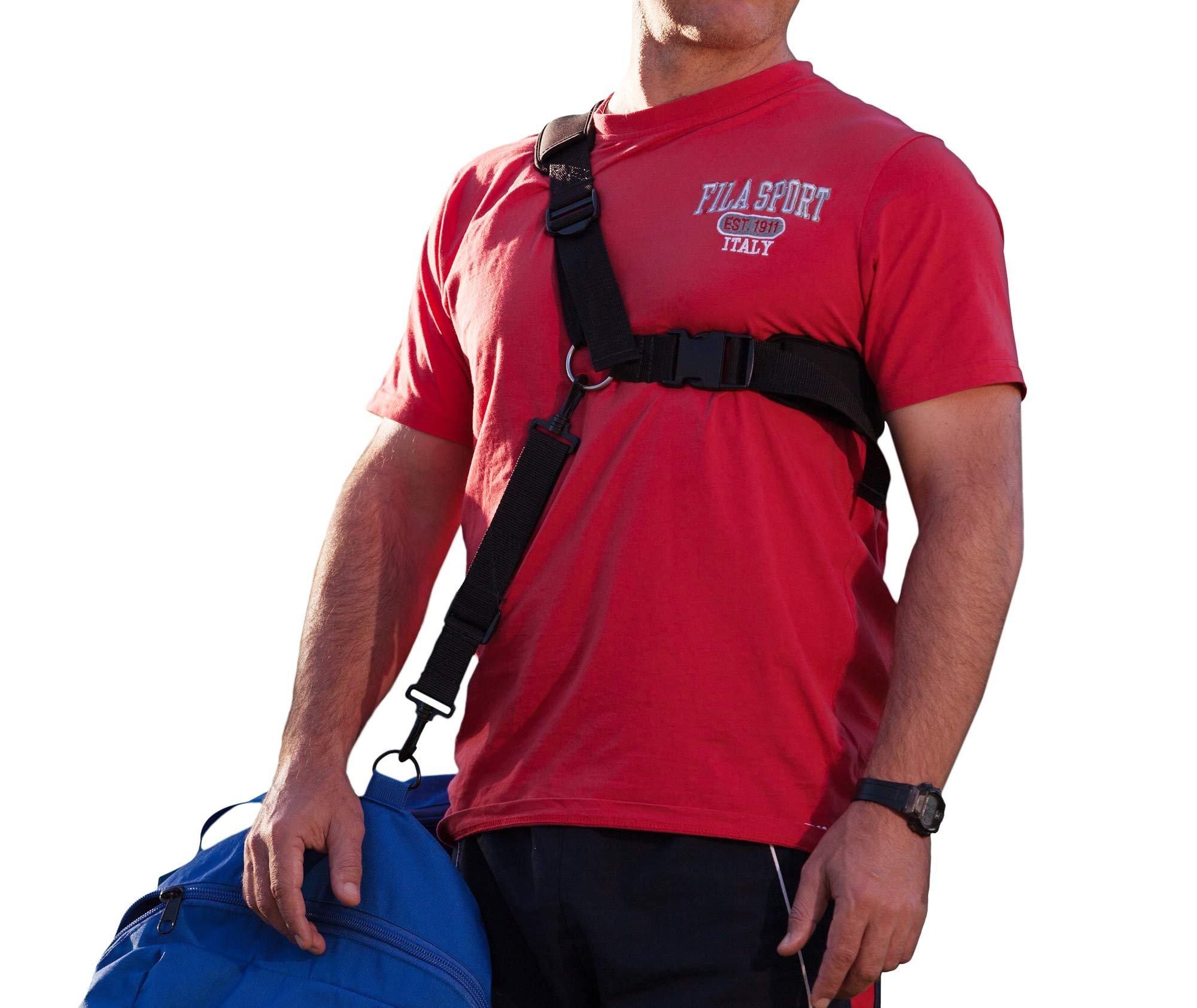 Ergonomic Shoulder Bag Carry Strap for Travel Luggage & Sports Equipment