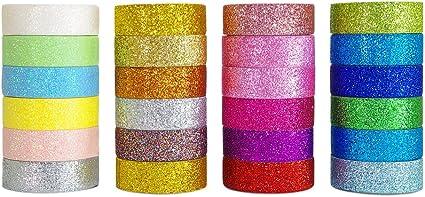 PAPER Glitter CUT OUT Lace Ribbon Self Adhesive Stick On Masking Washi Tape