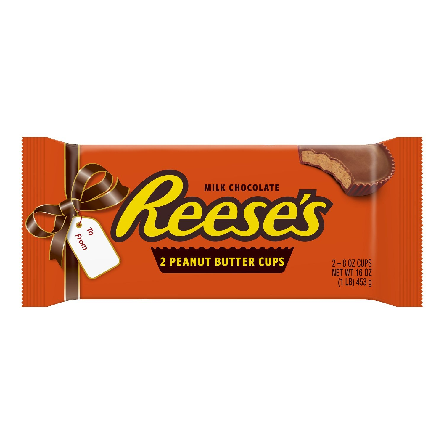 REESE'S PIECES 1 Pound Peanut Butter Cups, Holiday Chocolate Candy Gift