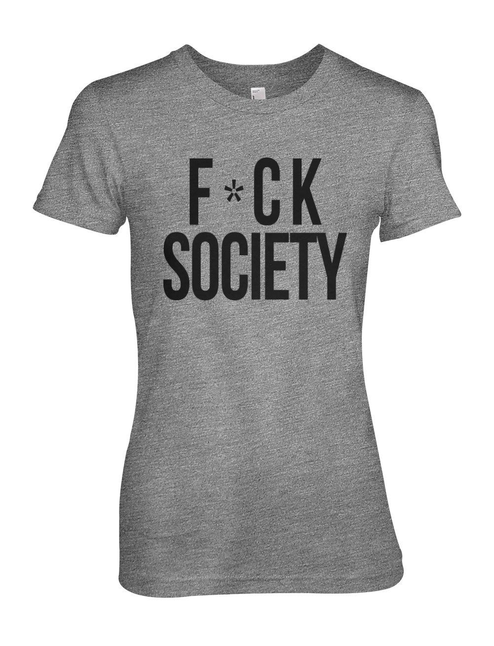 F Ck Society Cool Hacker Hacking T Shirt Grey 3561