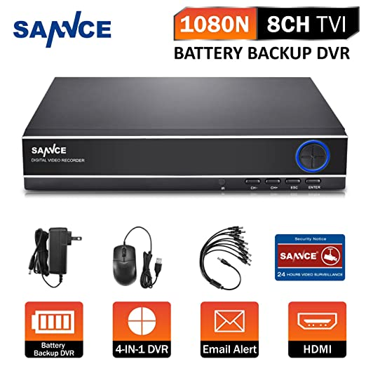 5 opinioni per SANNCE TVI 1080N 8 Canali Network Digital Video Recorder Video Sorveglianza