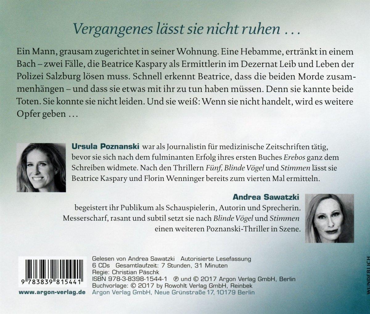 Schatten: Amazon.de: Ursula Poznanski, Andrea Sawatzki: Bücher