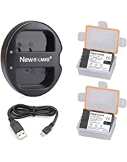 Newmowa DMW- BLF19 Battery (2 Pack) and Dual USB Charger for Panasonic DMW-BLF19 and Panasonic DMW-BLF19E Panasonic DMC-GH5 DMC-GH3 DMC-GH3A DMC-GH3H DMC-GH4 DMC-GH4H