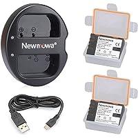 Newmowa DMW- BLF19 Battery (2 Pack) and Dual USB Charger for Panasonic DMW-BLF19 and Panasonic DMW-BLF19E Panasonic DMC-GH5 DMC-GH3 DMC-GH3A DMC-GH3H DMC-GH4 DMC-GH4H
