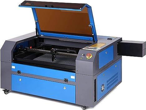 Z ZELUS 80W Máquina de Grabado Láser 500 x 700 MM Máquina de Grabador Láser de CO2 Máquina de Corte Láser LCD Digital Puerto USB, Bomba de Aire, ...