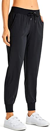 CRZ YOGA Women's Light Weight Drawstring Training Sports Jogger Pant with Pocket