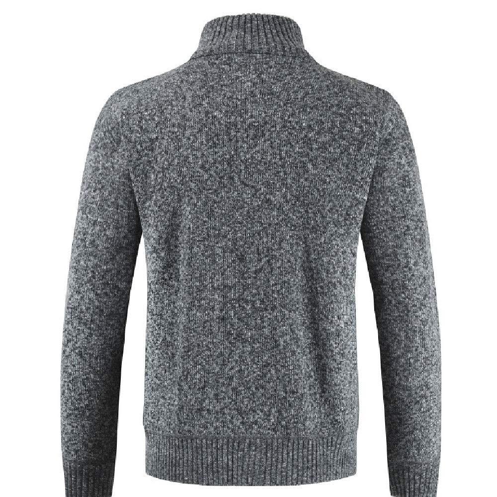 Bestow Abrigo de los suéter Hombres de Moda suéter los Sudadera Chaleco otoño Invierno Casaul Cremallera Chaqueta Cardigan Manga Larga df0bff
