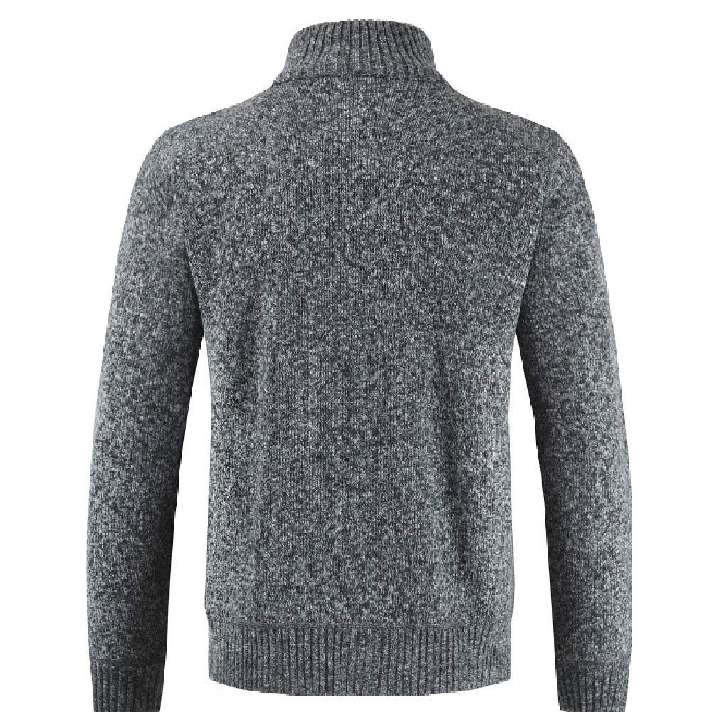 Allywit Men's Classic Long Sleeve Full Zip up Plus Knitted Fleece Cardigan Sweaters Big and Tall by Allywit (Image #3)