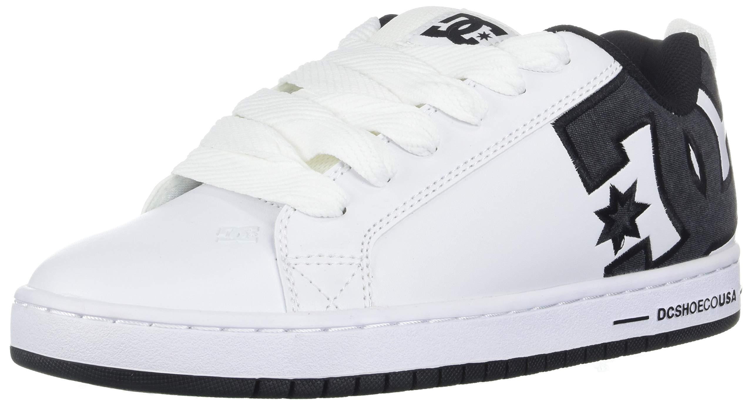 DC Men's Court Graffik Se Skate Shoe, White/Battleship, 6 D M US