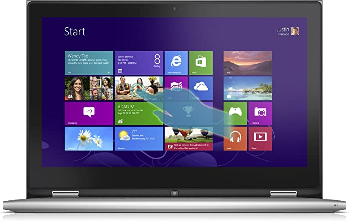 Dell Inspiron 13 7000 Series 13.3-Inch Convertible 2 in 1 Touchscreen Laptop (i7348-4286SLV)