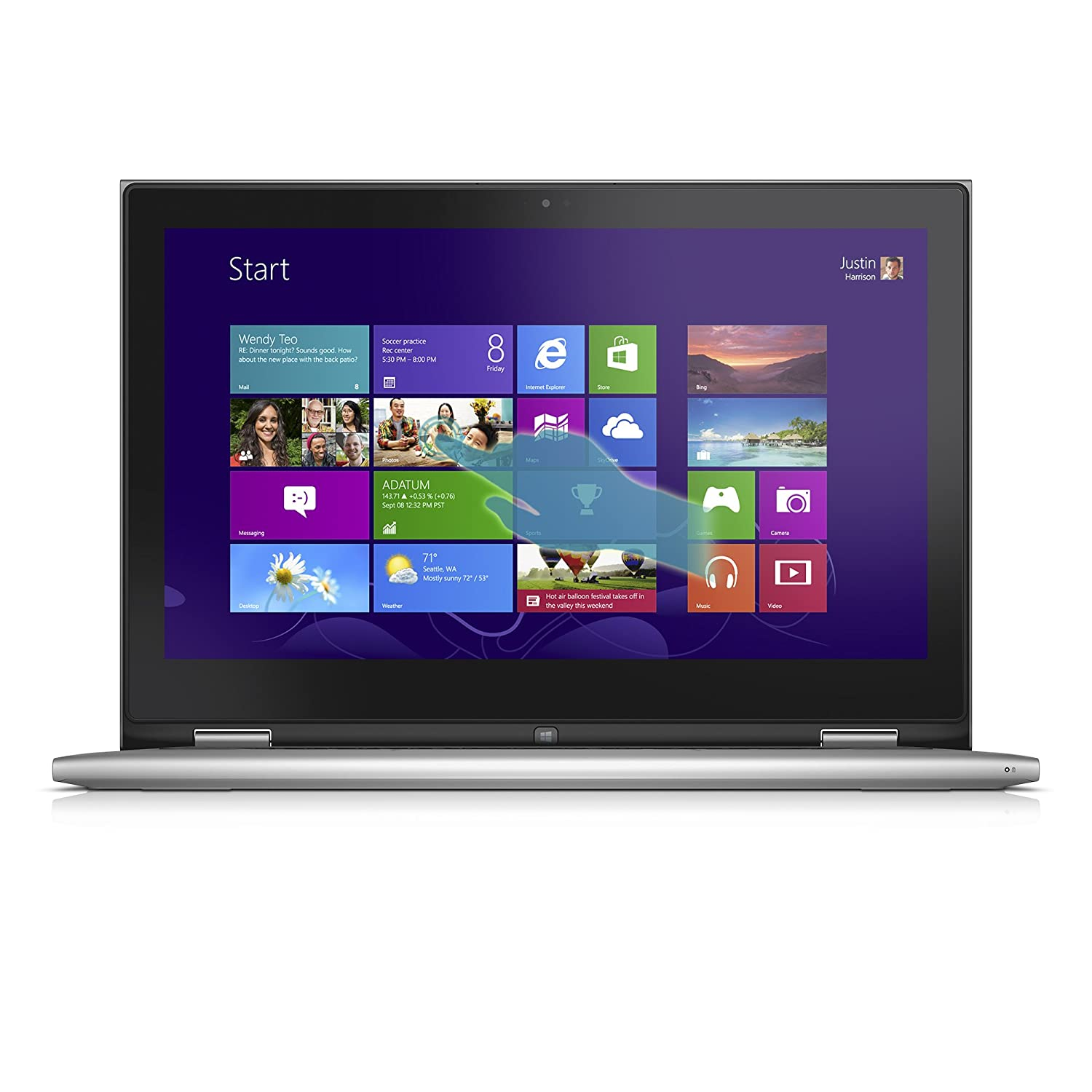 Dell Inspiron 13 7000 Series 13 3-Inch Convertible 2 in 1 Touchscreen  Laptop (i7348-4286SLV)