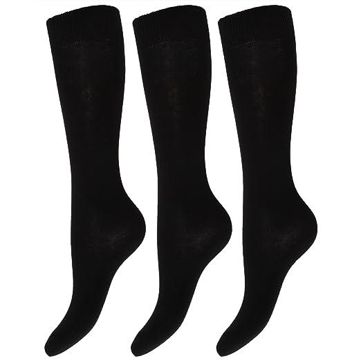 Kids/Children Big Girls Knee High School Socks (Pack Of 3) (5