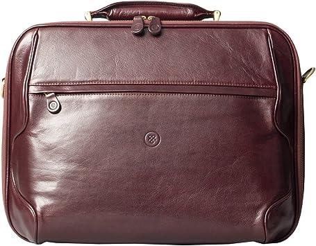 Maxwell Scott Elegant Italian Leather Laptop Bag Volterra