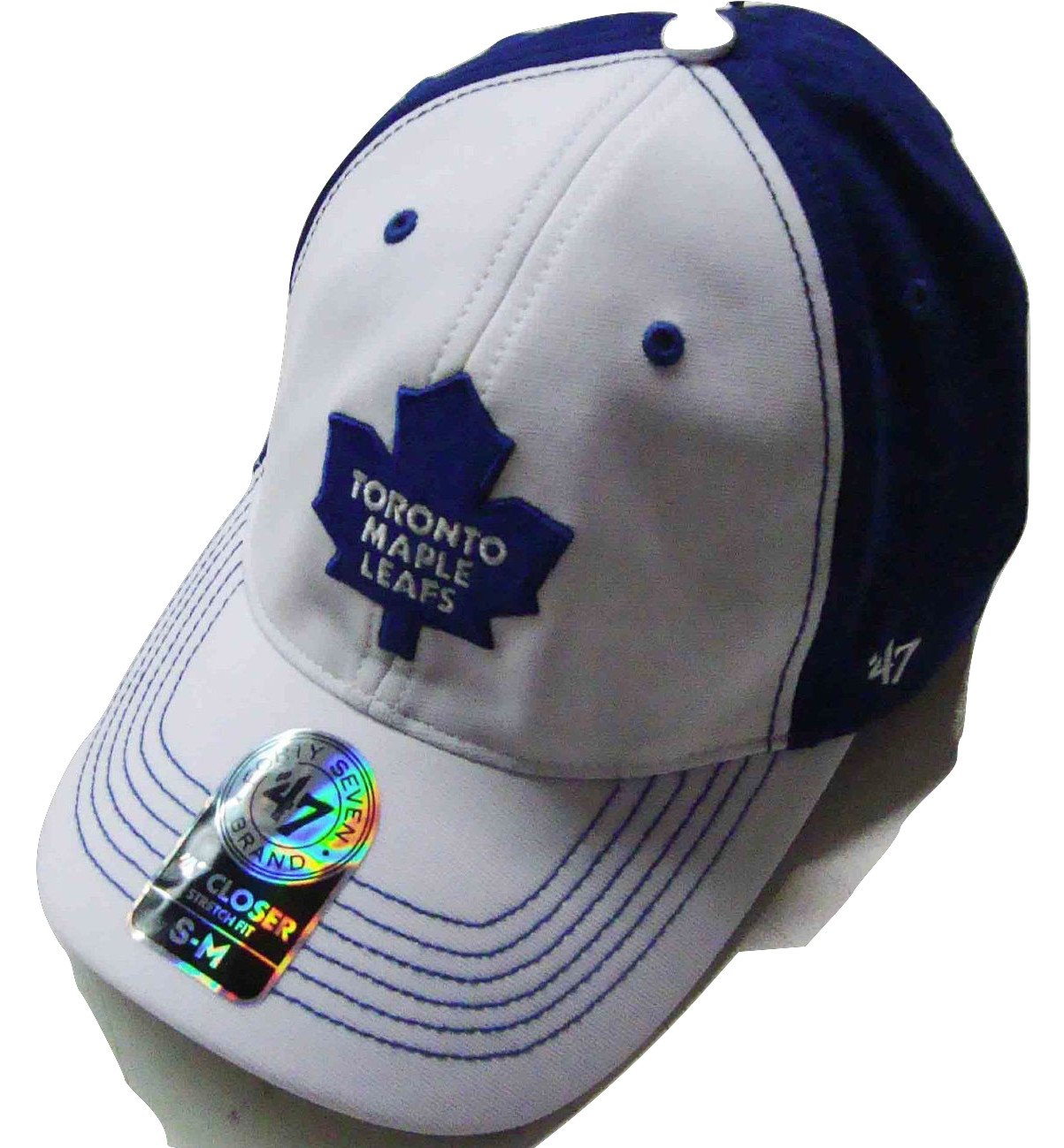 '47 Brand NHL Toronto Maple Leafs 2015 Carson Closer Flexfit Hat Cap White/Blue Large/X-Large '47 Brand
