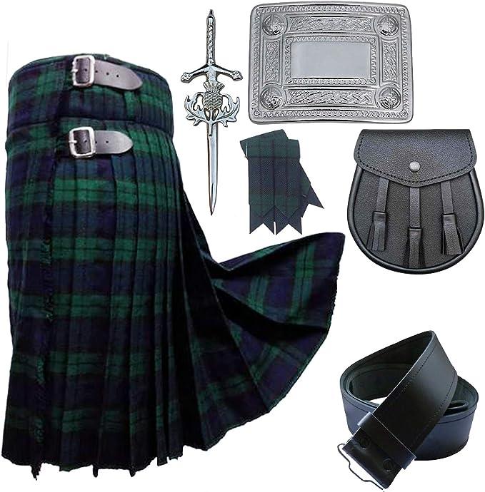 Conjunto de falda escocesa para hombre de 5 años con diseño de ...