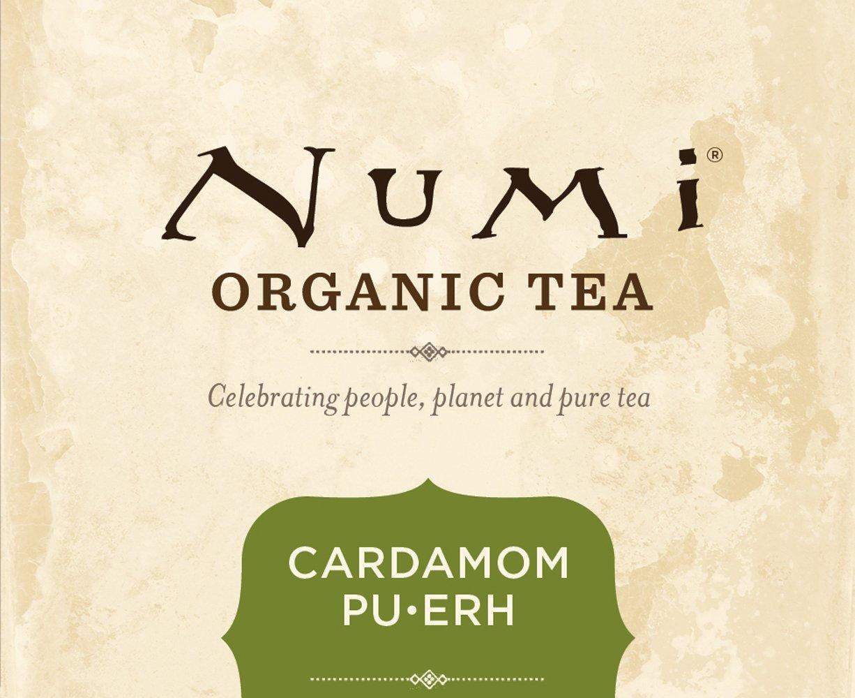 Amazon.com : Numi Organic Tea Cardamom Pu-erh Tea Bags, 16-Count ...