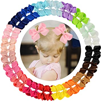 Clothing, Shoes & Accessories Bright 40 Pieces 3 Inch Hair Bows Alligator Hair Clips For Baby Girls Toddlers In Pairs