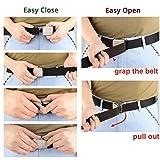 Drizzte Plus Size 71'' Mens Belts Adjustable Nylon