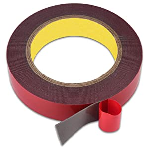 Lvyinyin Double Sided Adhesive Tapes, Heavy Duty Mounting Tape, Waterproof Acrylic Foam Masking Tape, for LED Lights, Home Office Decor, Width 1 Inch, Length 23Ft